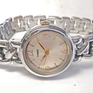 Timex Watch Two Tone Silver Dial 23mm